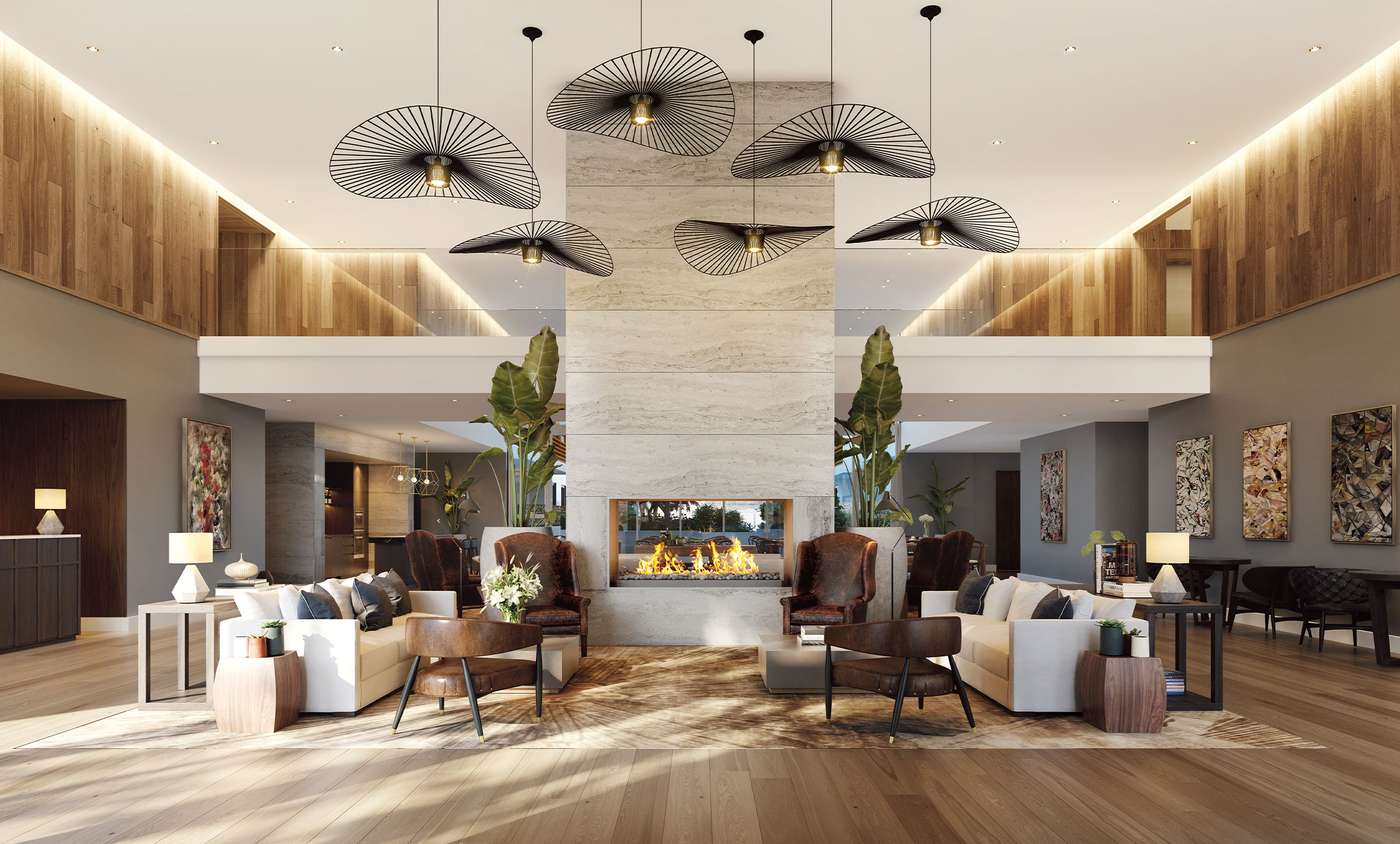 Entrance foyer with concierge and lounge (artist's impression), Europa on Alma