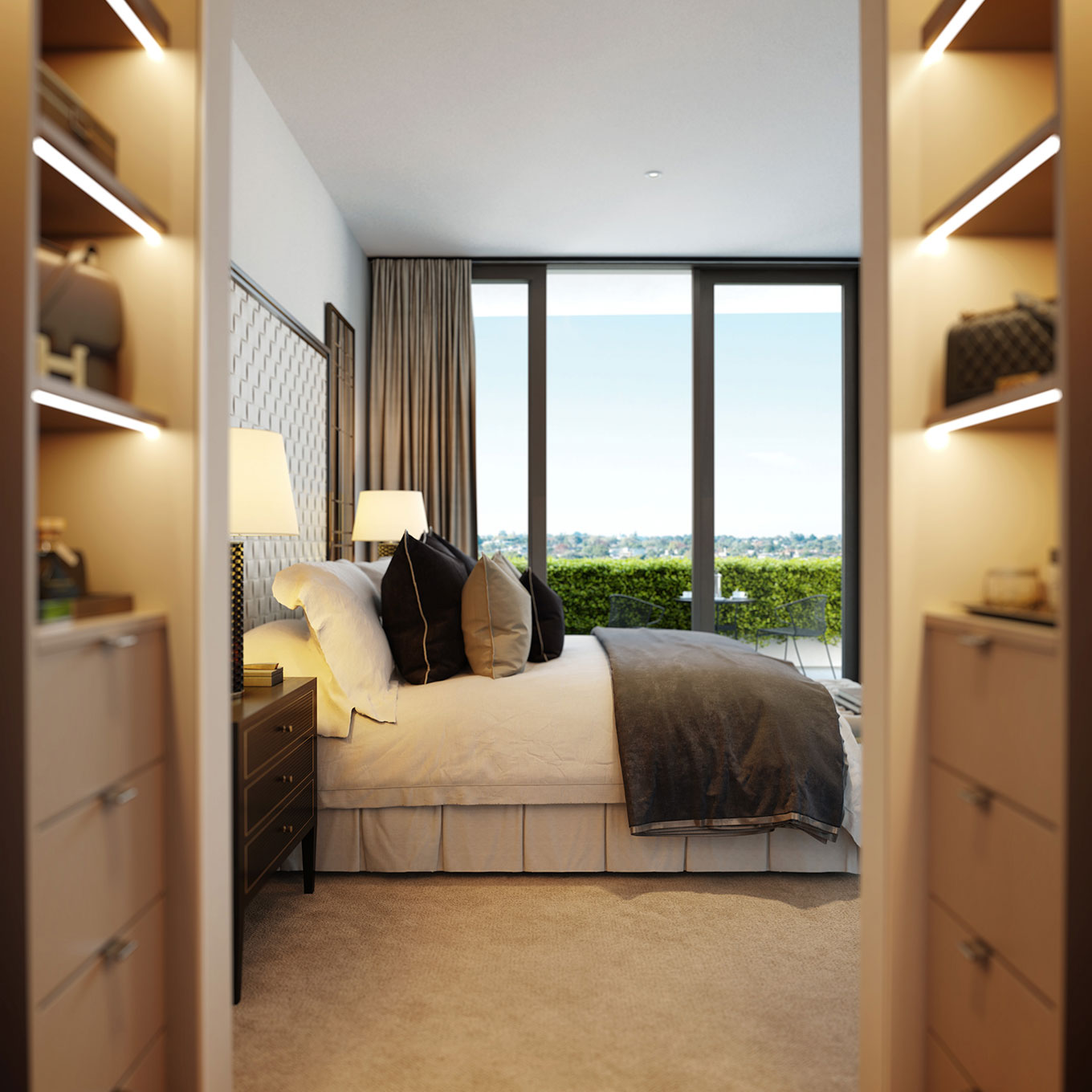 Master bedroom with wardrobe upgrade (artist's impression), Europa on Alma